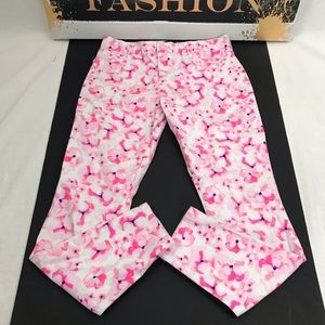 Pink and White Flower Pants